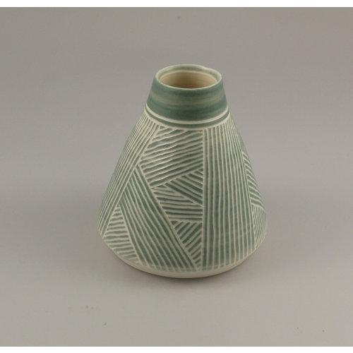 Gary Thomas Cone stripped  stoneware form  09