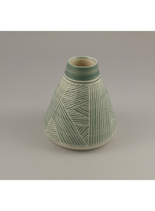 Cone stripped  stoneware form  09