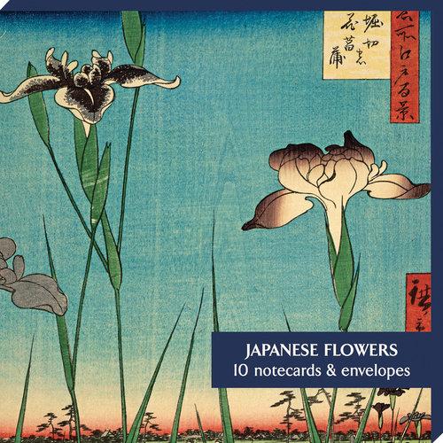 Fitzwilliam Museum Paquete de 10 tarjetas de flores japonesas