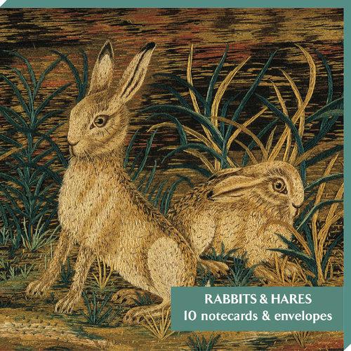 Fitzwilliam Museum Pack de 10 cartes de notes Lapins & Lièvres