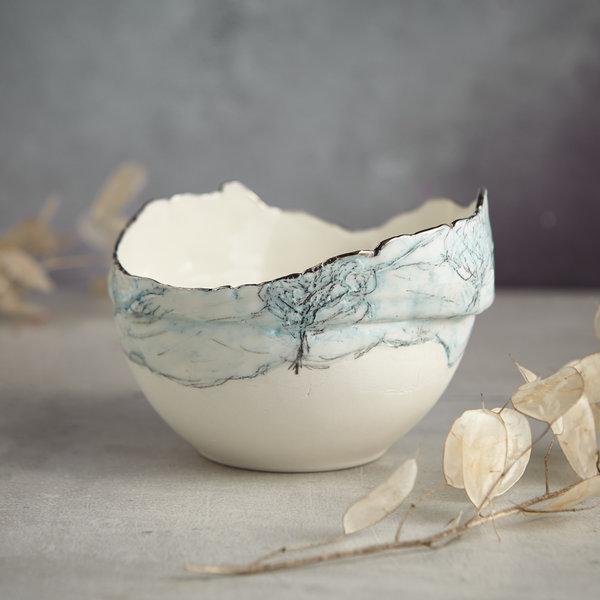 Landscape  Bowl with Trees , porcelain and platinum 04