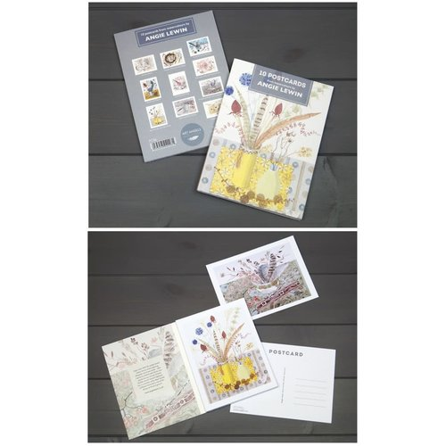 Art Angels 10 postcard pack assorted cards  by Angie Lewin