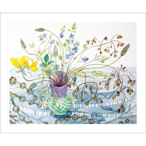 Art Angels Balllindallock Pot. Card by Angie Lewin