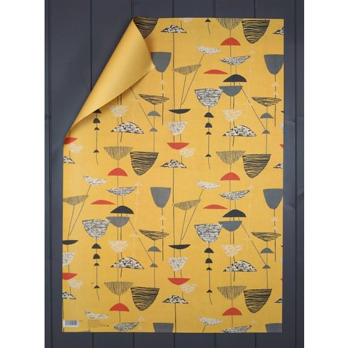 Art Angels Calyx gift wrap by Lucienne Day