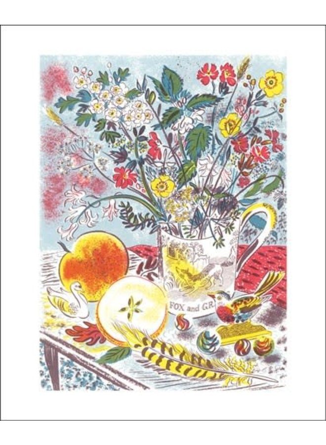 Fox and Grapes. Card by Emily Sutton