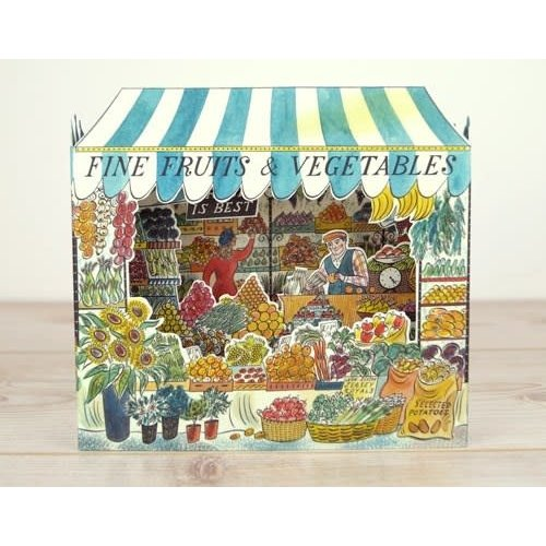 Art Angels Fruit and Vegetable Shop.  3D card by Emily Sutton