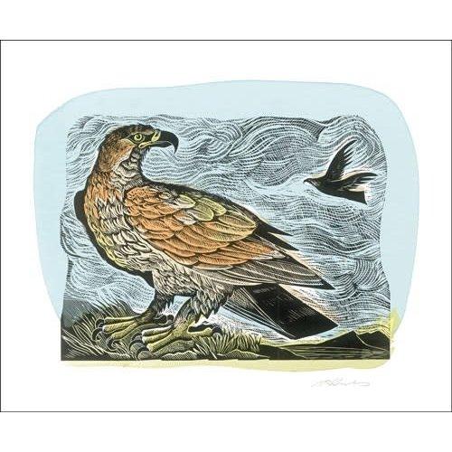 Art Angels Golden Eagle. Card by Angela Harding