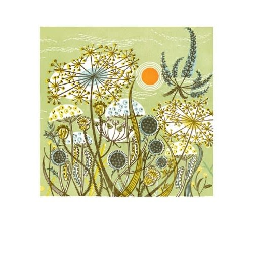 Art Angels Green Meadow. Card by Angie Lewin