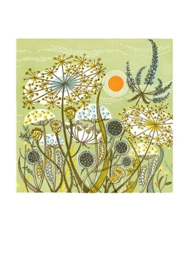 Green Meadow. Card by Angie Lewin