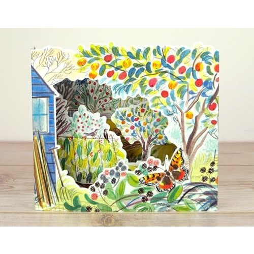 Art Angels Orchard  Allotments 3D card by Emily Sutton