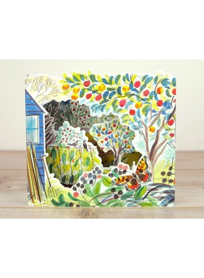 Orchard  Allotments 3D card by Emily Sutton
