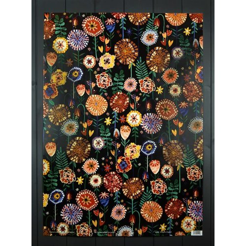 Art Angels Pop Flowers gift wrap by Brie Harrison