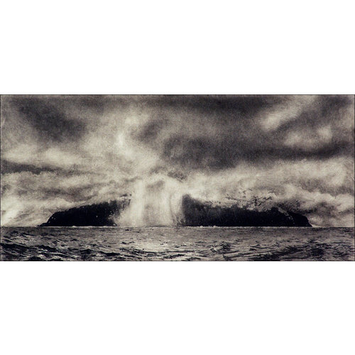 Ian Brooks Approaching Tristan da Cunha - etching  12 framed