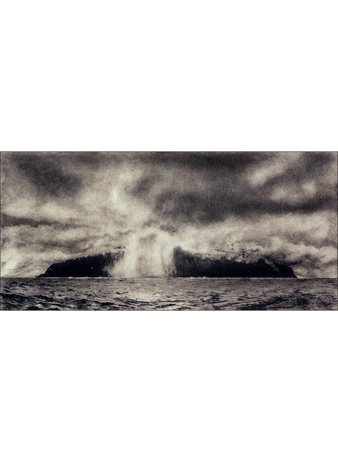 Annäherung an Tristan da Cunha - Radierung 12 gerahmt