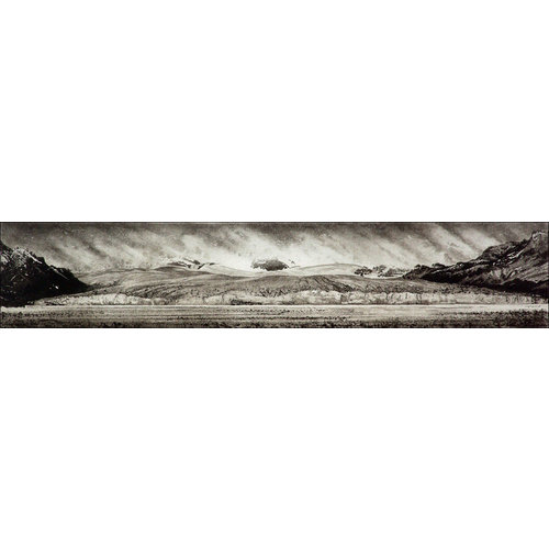 Ian Brooks Dirty ice - Nordenskjöld Glacier, South Georgia - etching  15 framed