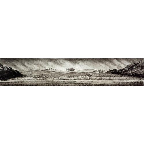 Ian Brooks Schmutziges Eis - Nordenskjöld-Gletscher, Südgeorgien - Radierung 15 gerahmt