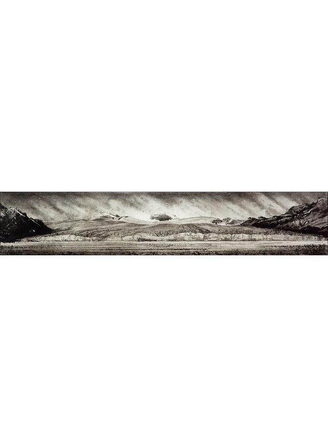 Schmutziges Eis - Nordenskjöld-Gletscher, Südgeorgien - Radierung 15 gerahmt