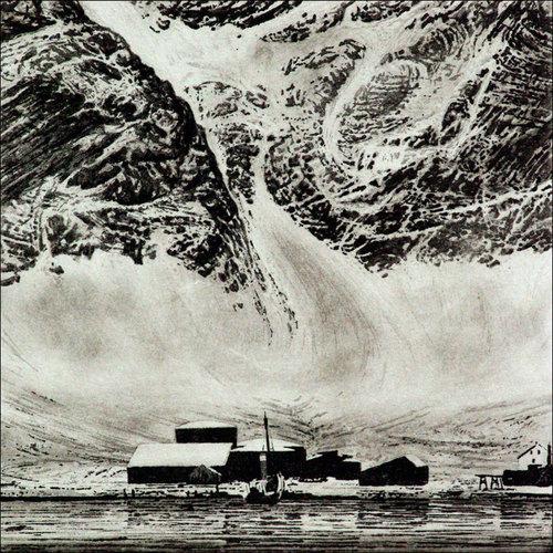 Ian Brooks Grytviken - Radierung 09 gerahmt