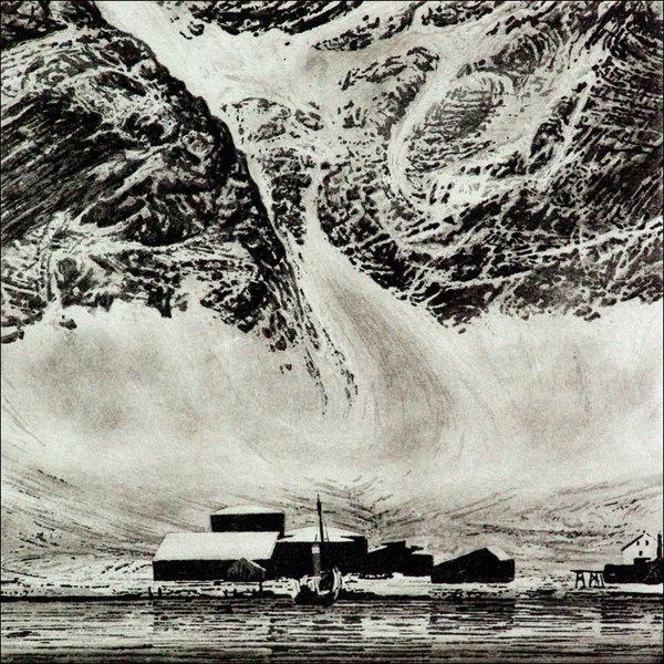 Grytviken - grabado 09 enmarcado