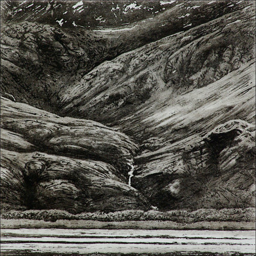 Ian Brooks In Royal Bay, South Georgia - etching  10 framed