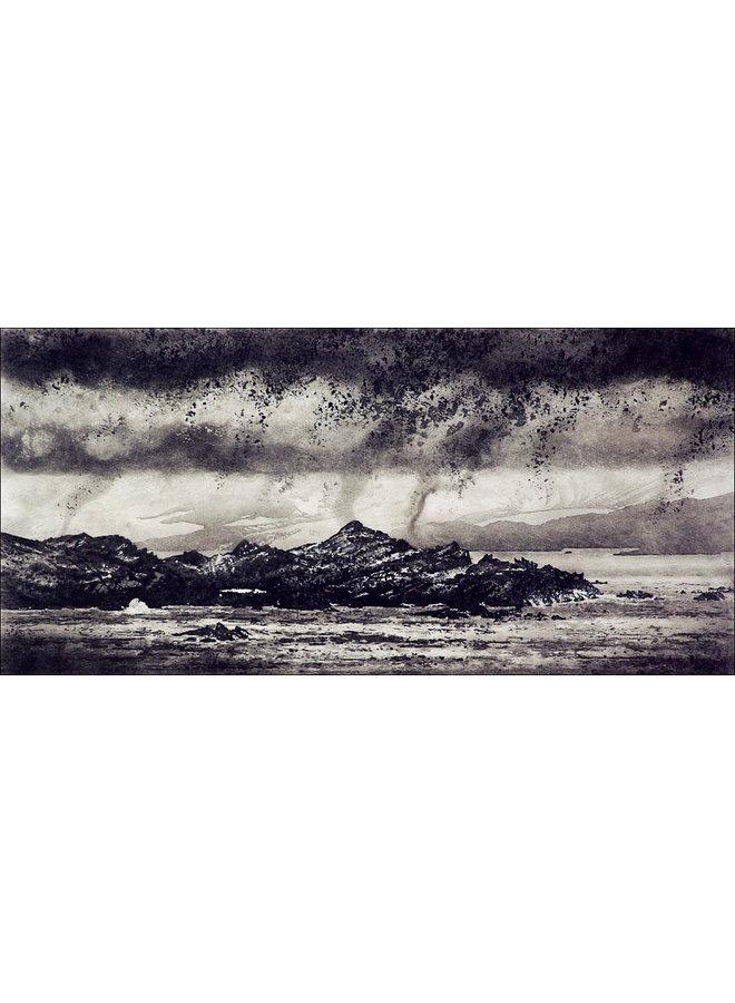 Niedrige Wolke über Signy Island - Radierung 14 gerahmt