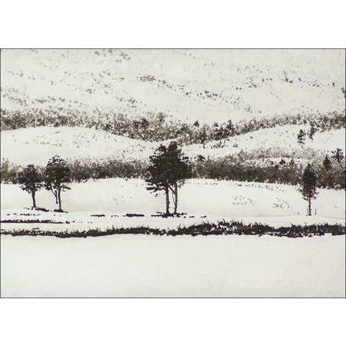 Ian Brooks On Kungsleden, Abisko - etching  21 framed