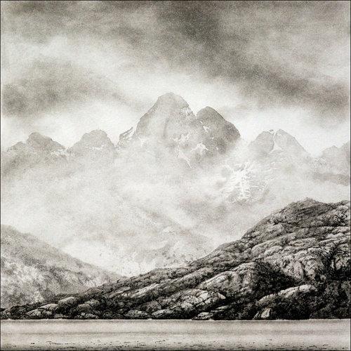 Ian Brooks Isla Riesco, Río Verde, desde el estrecho de Magallanes (cubierta) - grabado 11 enmarcado