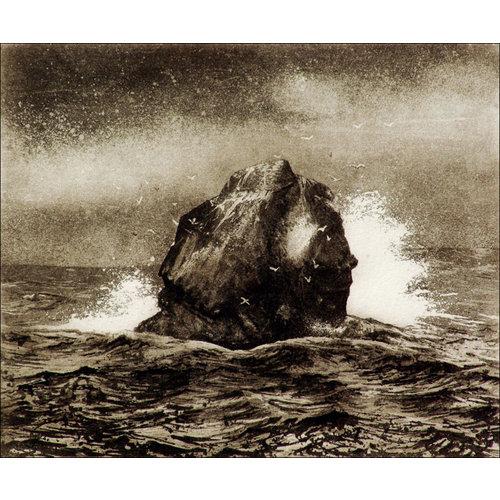 Ian Brooks Rockall - grabado 13 enmarcado