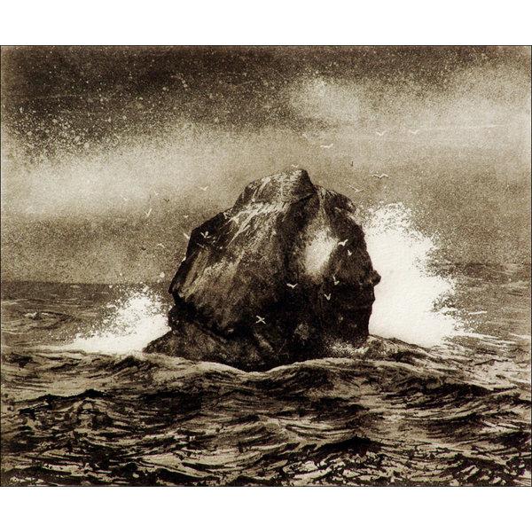 Rockall - etching  13 framed