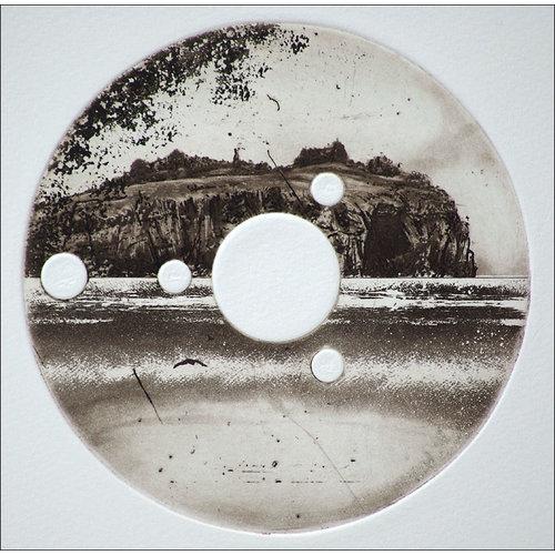 Ian Brooks Isla Stoltenhoff - grabado 16 enmarcado