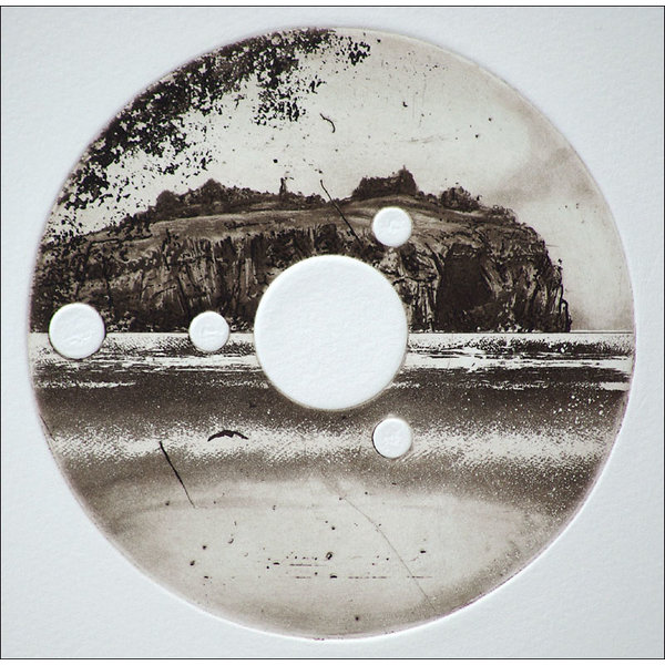 Stoltenhoff Island - etching  16 framed