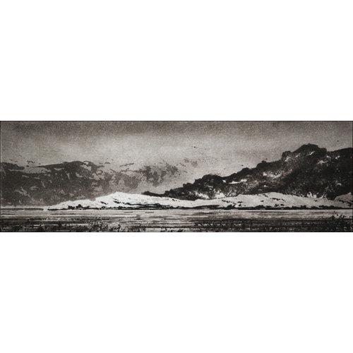 Ian Brooks Gegen Hvalfjaðarsveit - Radierung 18 gerahmt