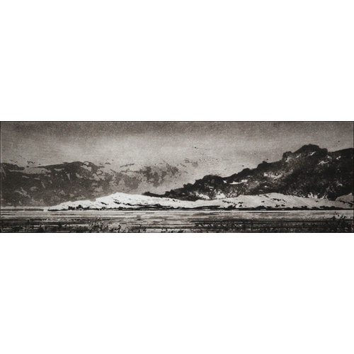 Ian Brooks Toward Hvalfjaðarsveit - etching  18 framed