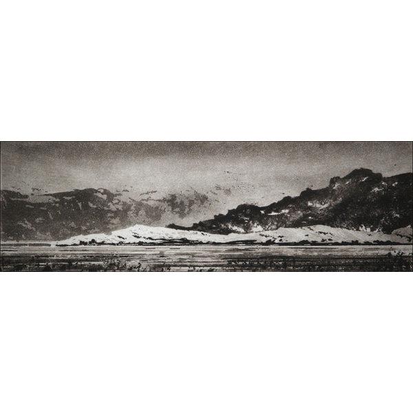 Hacia Hvalfjaðarsveit - grabado 18 enmarcado