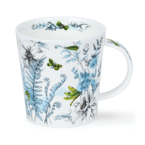 Dunoon Ceramics Hidden Garden green  mug by Michele Aubourg 63