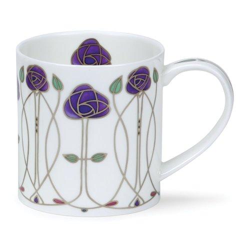 Dunoon Ceramics Mackintosh taza púrpura de Art Nouveau 51