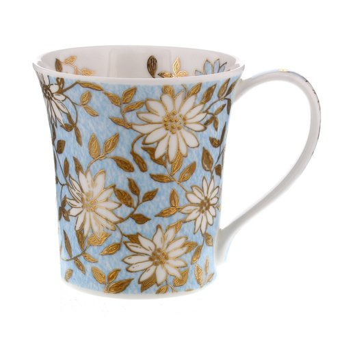 Dunoon Ceramics Gilt Aqua mug by Jane Fern 61