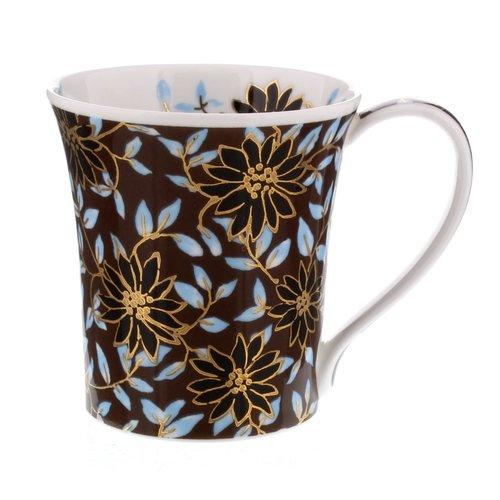 Dunoon Ceramics Taza de moca dorada de Jane Fern 62