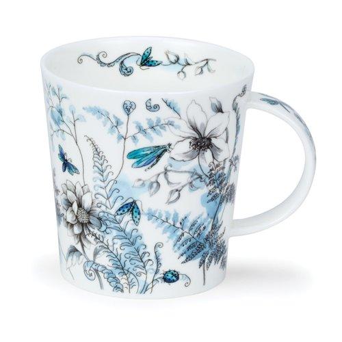 Dunoon Ceramics Taza azul jardín oculto de Michele Aubourg 64