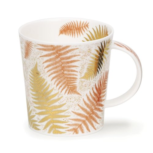 Dunoon Ceramics Ferns White  with copper and  gold  by Jane Fern 44