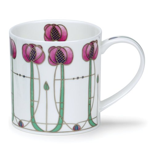 Dunoon Ceramics Mackintosh-rosa Jugendstil-Becher 52