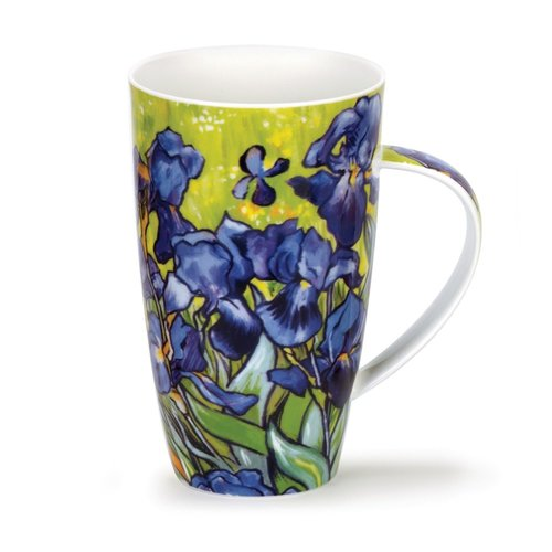 Dunoon Ceramics Van Gogh Irises tall mug by Caroline Dad