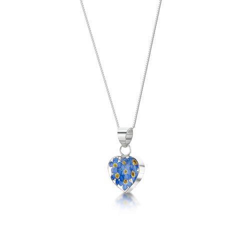 Shrieking Violet Herz Vergissmeinnicht Silberkette 106
