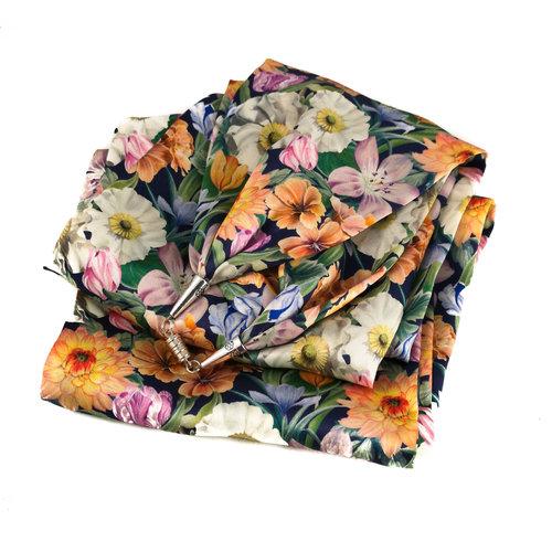 Lady Crow Silks Summer Meadow Bufanda de satén y seda con cierre magnético Boxed 90