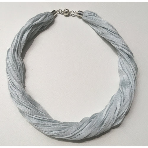 Copper Moor Designs Stoff Eukalyptus Halskette Duck Egg Blue 04