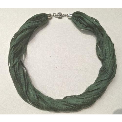Copper Moor Designs Stoff Eukalyptus Halskette Farn Grün 06