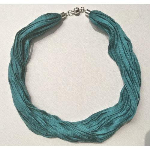 Copper Moor Designs Stoff-Eukalyptus-Halskette Quetzal Green 07