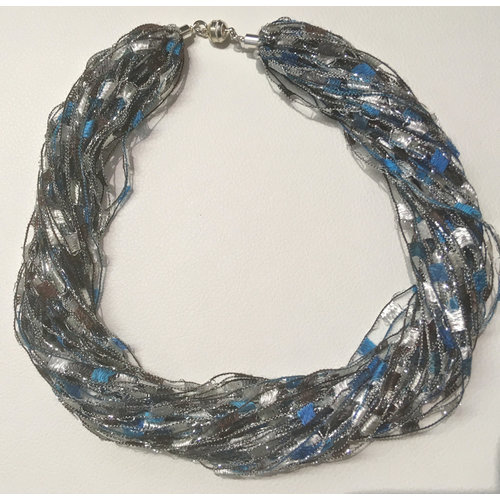 Copper Moor Designs Sparkle Fibre Necklace City Rain 12