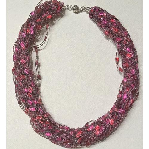 Copper Moor Designs Sparkle Fiber Halskette Himbeere 14