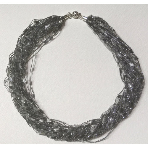 Copper Moor Designs Sparkle Fiber Halskette Silver Screen 11